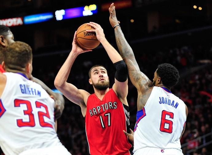 Jonas Valanciunas Clippers x Toronto  (Foto: Reuters)