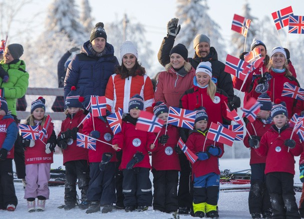 Kate Middleton e Príncipe William na Escandinávia (Foto: Getty Images)