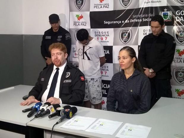 Suspeito foi apresentado na manhã desta quinta-feira (22), em uma coletiva de imprensa na sede do GOE, em João Pessoa (Foto: Diogo Almeida/G1)