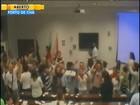 Reunião da UFSC sobre gestão do HU é interrompida por protesto; vídeo