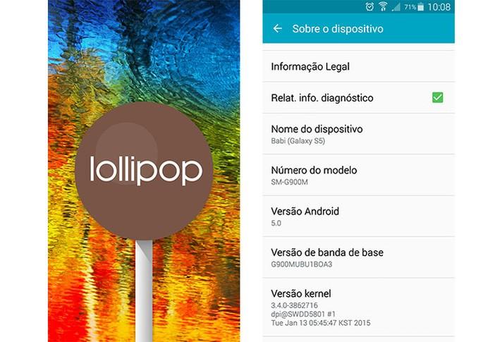 Android 5.0 Lollipop no Galaxy S5 (Foto: Reprodução/Barbara Mannara)