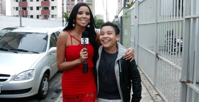 Niara Meireles e Roberto Matheus (Foto: Produção Se Liga VM)