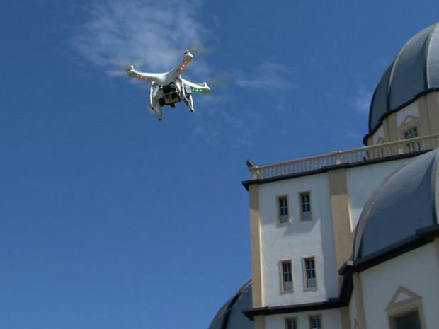 Primeiro bairro onde o drone foi utilizado é Santo Antônio (Foto: Reprodução/ TV Gazeta)