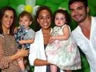 Sidney Sampaio festeja um ano do filho, Leonardo