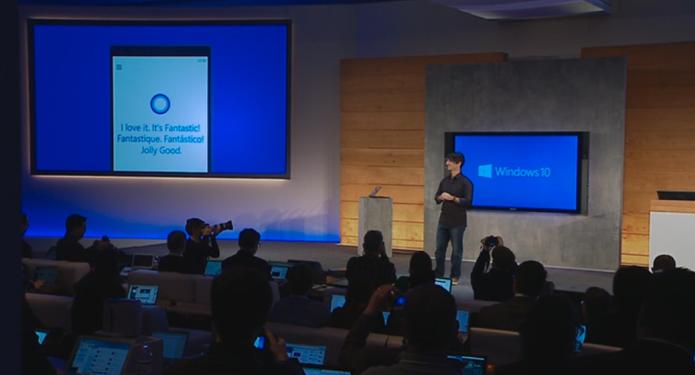 Cortana responde Fantástico, em várias línguas em evento da Microsoft (Foto: Reprodução/Microsoft)