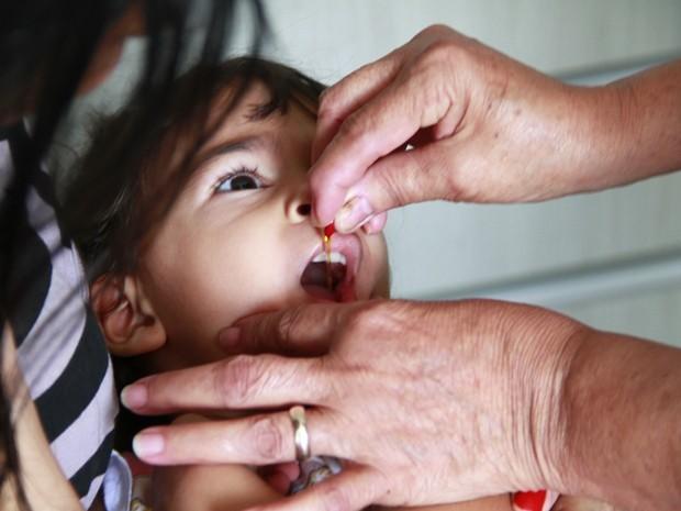 Vacinação contra pólio em João Pessoa  (Foto: Rizemberg Felipe/Jornal da Paraíba)