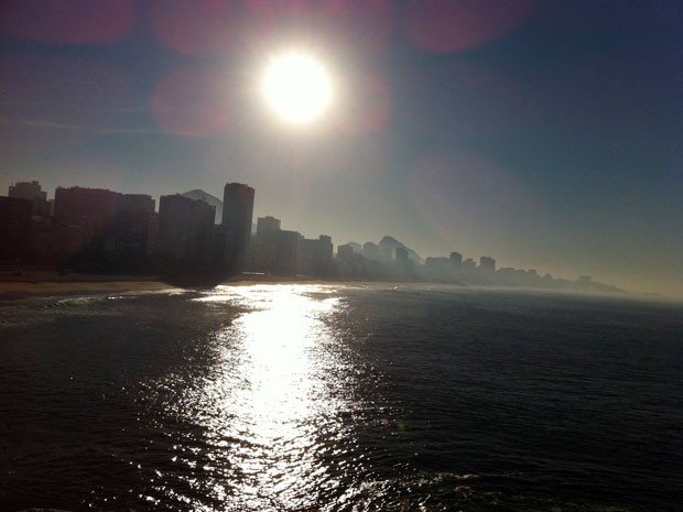 Sunday brought strong sun and warm tempts to Rio de Janeiro