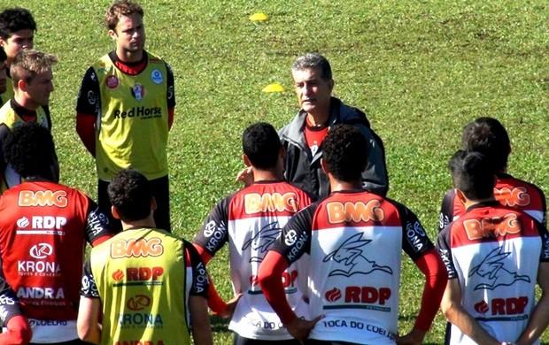 Ricardo Drubscky técnico treino Joinville JEC (Foto: Juliano Schimidt/Portal Joinville)