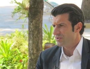 Exclusiva com Figo (Foto: Globoesporte.com)