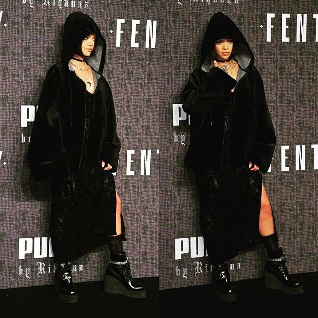 8ce6b40571 Rihanna participa do desfile da própria coleção para a Puma - Vogue ...
