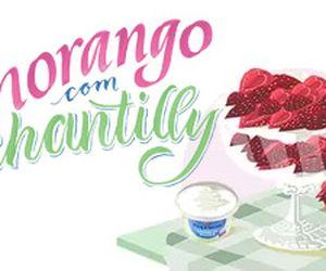 Morango com chantilly