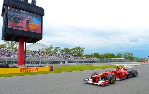 Felipe Massa no treino da F1 no GP do Canadá (Foto: AFP)