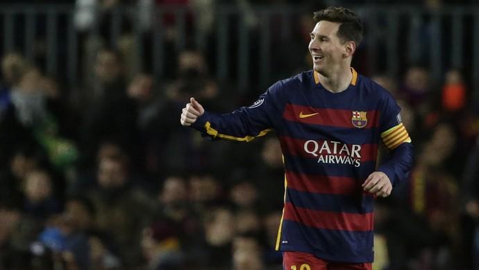 MEssi gol Barcelona x Roma (Foto: AP)