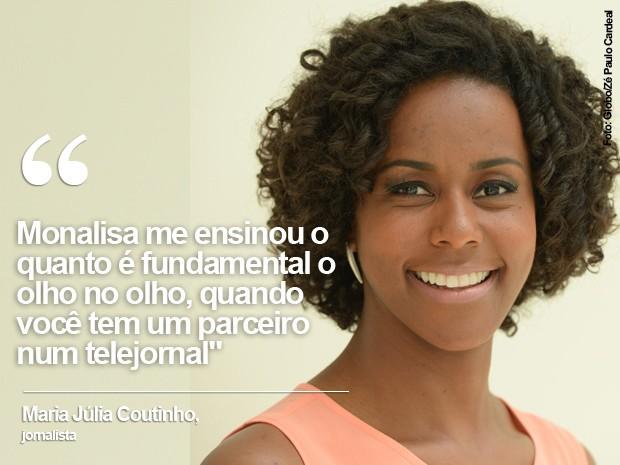 A jornalista Maria Júlia Coutinho (Foto: Reprodução/TV Globo e Instagram)