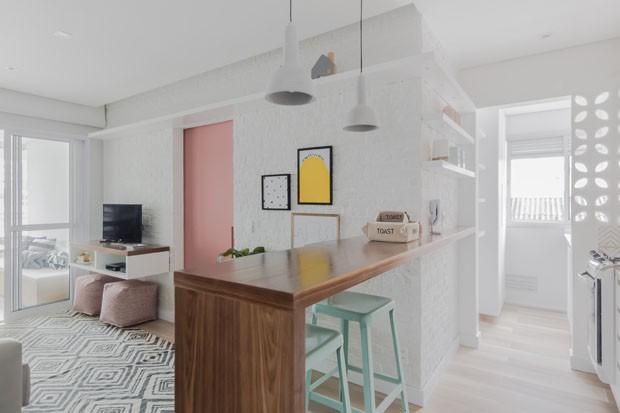 Um apartamento pequeno jovem e moderno na vila mariana for Diseno de interiores apartamentos pequenos