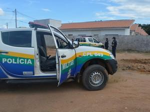 Polícia Militar de Ariquemes, RO (Foto: Jeferson Carlos/G1)