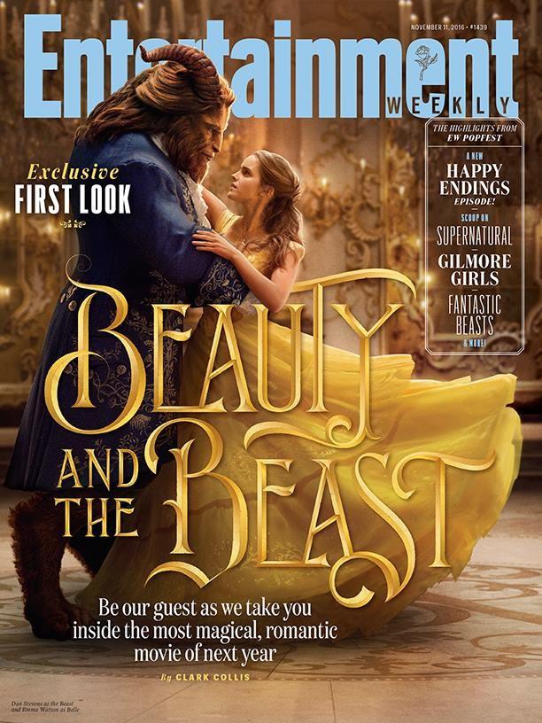 Emma Watson como Bela e Dan Stevens como Fera (Foto: Reprodução)