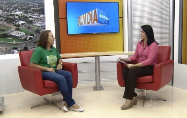 Margarete explica como as pessoas podem colaborar com o programa (Foto: Bom Dia Amazônia)