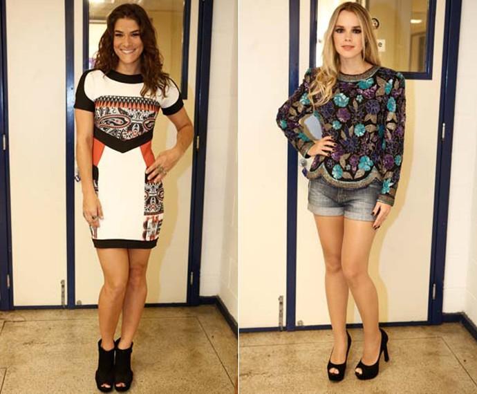 Priscila Fantin e Thaeme exibem looks escolhidos para a grande final (Foto: Inácio Moraes/ Gshow)