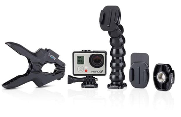 Câmera GoPro com acessórios. (Foto: Divulgação/GoPro)