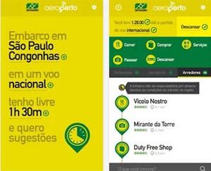 'Aeroperto' é aplicativo da Infraero para apresentar lugares dentro e fora do aeroporto a passageiros (Foto: Divulgação/Infraero)