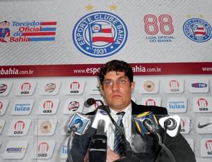 Carlos Rátis, interventor do Bahia, durante entrevista na sala de imprensa do clube (Foto: Raphael Carneiro)