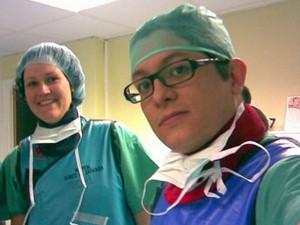 Cristobal Andres Parada quando ainda era estudante de medicina (Foto: Arquivo Pessoal)