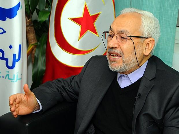 Líder do partido Ennahda, Rachid Ghannouchi, falou à AP sobre a crise política na Tunísia (Foto: Hassene Dridi/AP)