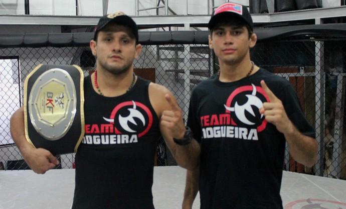Andrezinho Nogueira ao lado do parceiro de treino Alan Gomes (Foto: Divulgação)