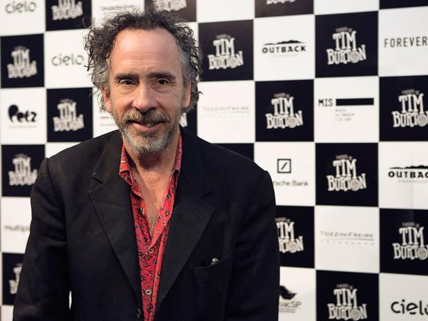 O cineasta Tim Burton, São Paulo, onde promoveu a exposição sobre sua obra no Museu da Imagem e do Som (MIS). (Foto: Divulgação/MIS)