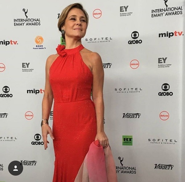 Adriana Esteves estava indicada ao prêmio de Melhor Atriz por sua atuação na série Justiça (Foto: Instagram/ IEmmys)