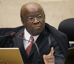 O presidente do Supremo Tribunal Federal (STF), ministro Joaquim Barbosa (Foto:  Gervásio Baptista/SCO/STF)