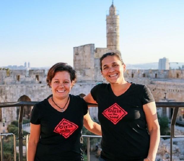 Fernanda Moura e Taciana Mello em Jerusalém (Foto: THE GIRLS ON THE ROAD)