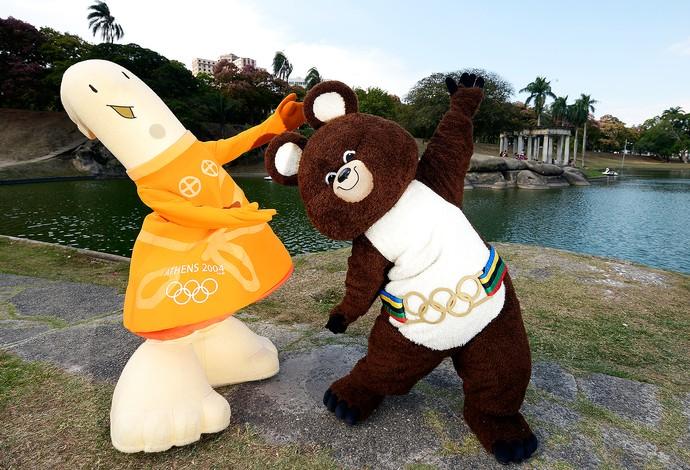 Mascotes das Olimpíadas Quinta da Boa Vista (Foto: Alexandre Loureiro)