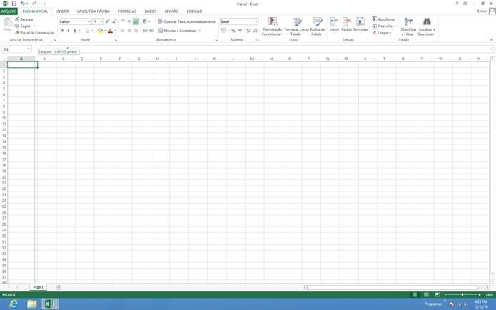 Unidade de medida no Excel(Foto: Reprodução/André Sugai)
