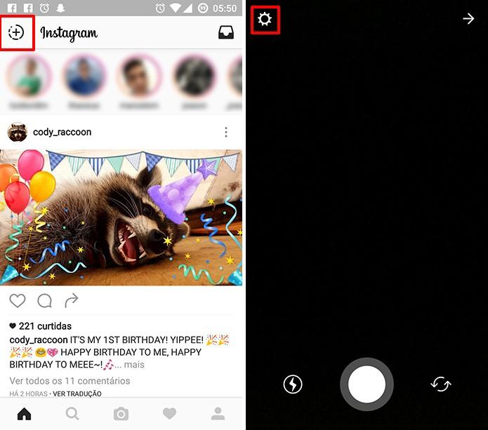 Instagram Stories pode ter fotos salvas automaticamente na galeria do telefone (Foto: Reprodução/Elson de Souza)