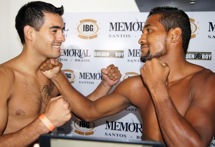 Yamaguchi Falcão x Martin Fidel Rios pesagem boxe (Foto: Thierry Gozzer)
