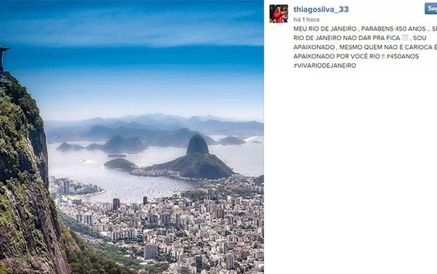 Thiago Silva homenagem ao Rio no Instagram