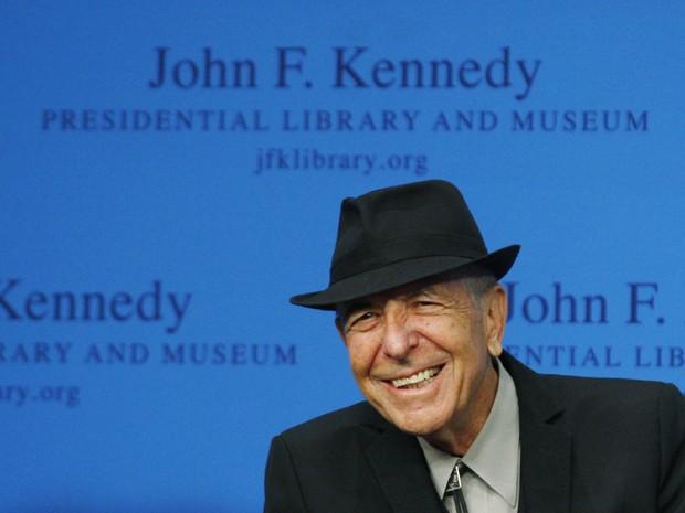Cohen sorri durante homenagem na premiação Song Lyrics, em Boston (EUA), em 2012 (Foto:  REUTERS/Jessica Rinaldi)
