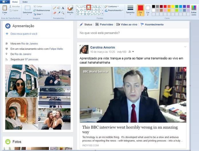 Como aplicar contorno em foto com Paint e Preview do Mac  (Foto: Reprodução/Carolina Ochsendorf )