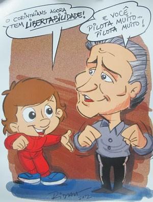 Ridaut Dias, Cartunista Senninha (Foto: Diego Venturelli / Globoesporte.com)