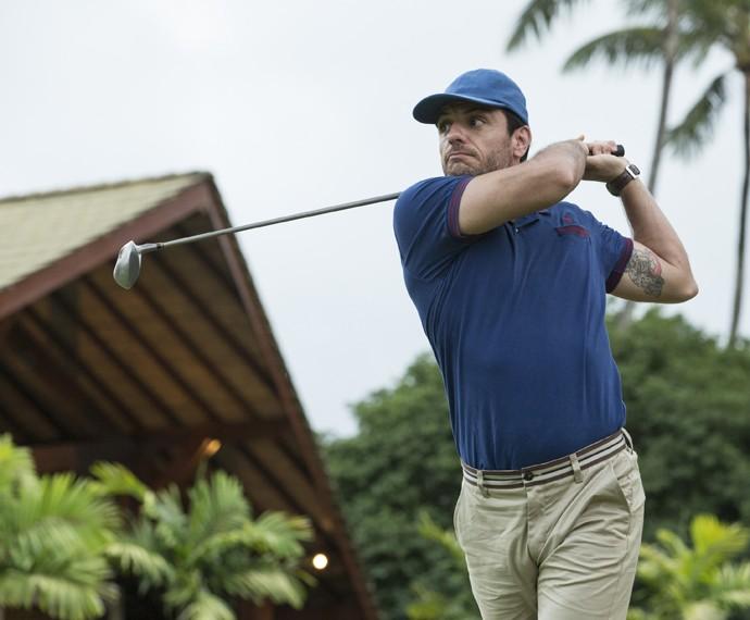 Alex joga golfe em lua de mel (Foto: Felipe Monteiro/ Gshow)