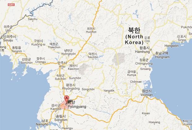 Manchas cinzentas representam campos de concentração na Coreia do Norte (Foto: Reprodução/Google Maps)