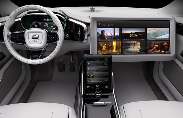 Tela gigante e Netflix sem internet são propostas da Volvo para o carro autônomo