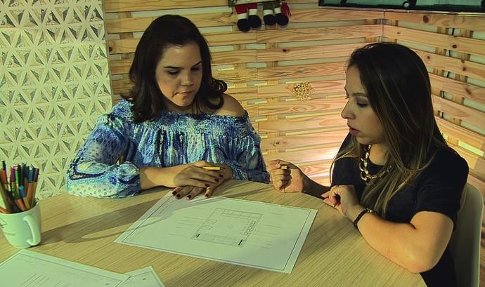 Arquitetas Rafaela Santos e Laiana Lima fizeram o projeto da reforma (Foto: Rede Amazônica)
