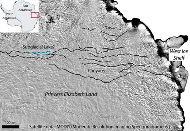 Cientistas dizem ter encontrado abismo gigantesco escondido sob o gelo da Antártida