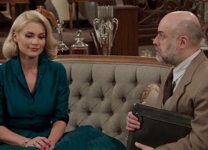 Sandra convence psiquiatra a internar Anastácia (Foto: TV Globo)