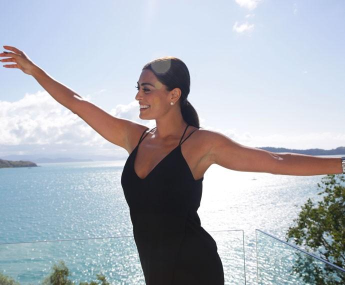 A atriz se divertiu durante as gravações da novela na Austrália (Foto: Bernardo Duarte/Gshow)