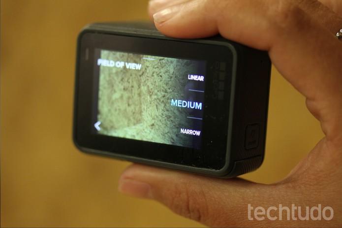 GoPro Hero5 Black simula quatro tipos de lentes (Foto: Luana Marfim/TechTudo)