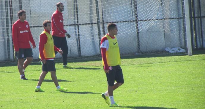 Luque realiza primeiros treinos no Inter (Foto: Tomás Hammes / GloboEsporte.com)